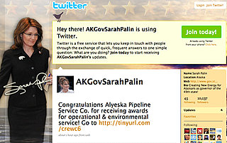 Republican Sarah Palin Joins Twitter