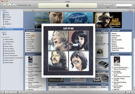 The Beatles on iTunes!