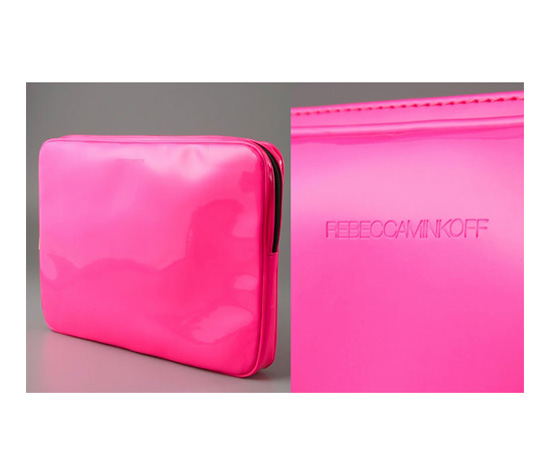 Rebecca Minkoff Pink Patent Laptop Sleeve