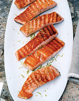 Fast & Easy Gourmet Recipe For Grilled Salmon With Lime Butter Sauce