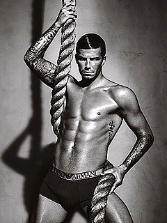 Shirtless David Beckham's Newest Armani Underwear Ad Photo