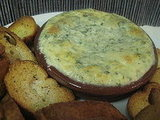 Baked Ricotta Slather With Garlic and Herbs