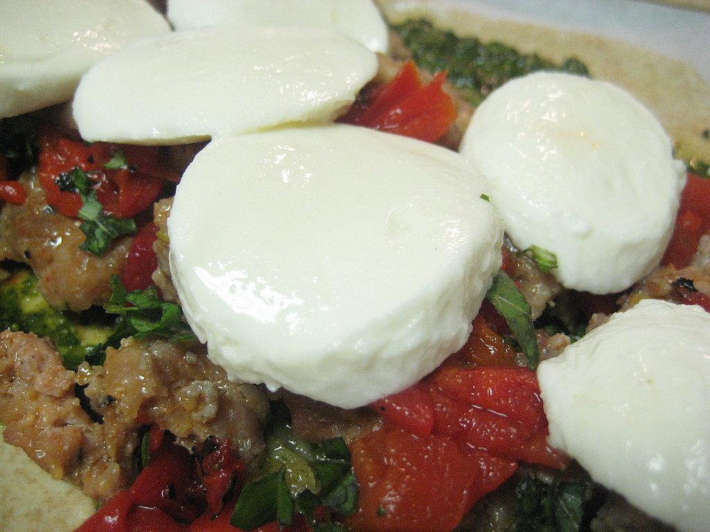 Fresh Mozzarella, Italian Sausage Calzones