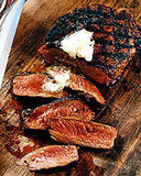 Mexican Spice-Rubbed Rib Eyes With Lime Butter