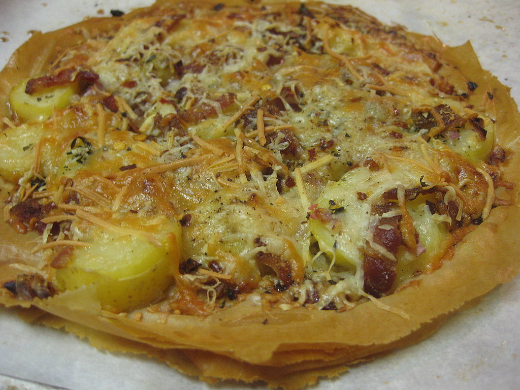 Potato, Bacon, and Asiago Pizza
