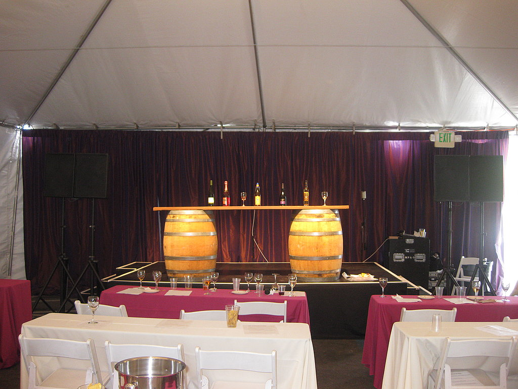 The wine seminar tent was adjacent to the wine tasting tents.