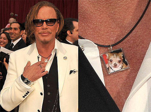 Mickey Rourke's Independent Spirit Awards Acceptance Speech and Necklace With Loki Charm