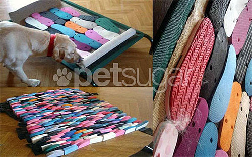 DIY Dreaming: Could You Re-Create This Dog Bed Made of Old Flip-Flops?