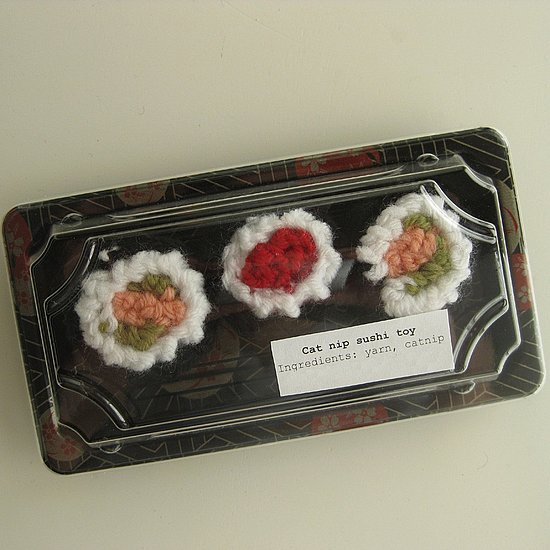 Hand Cut Knit Sushi