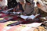 Afghan girls attend school in Eastern Afghanistan.