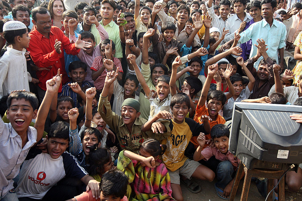 Photos From Mumbai Slums Celebrating Slumdog Millionaire Oscar