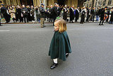 A young girl marches in NYC's parade.