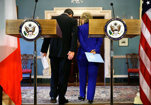 Picture It: Hillary and Irish Minister Prep For Diplomatic Jig
