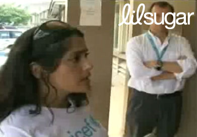 Salma Hayek Breastfeeds Sick Baby on UNICEF Trip