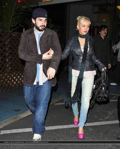 Christina Aguilera In LA With Her Hubby