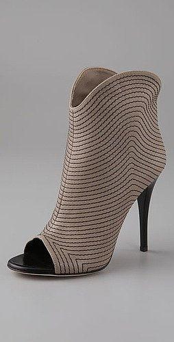 Giuseppe Zanotti Shoes Stitched Peep Toe Booties