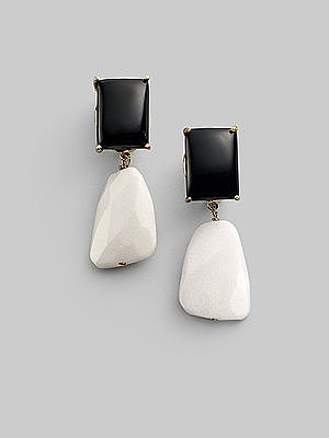 Bounkit - Onyx and Jade Drop Earrings - Saks.com
