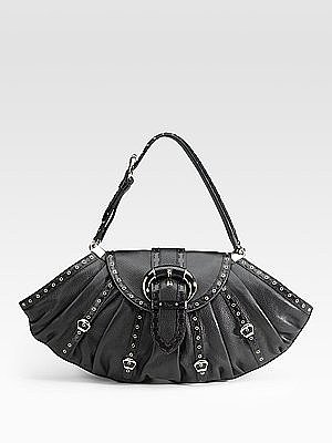 Dior - Two-Textured Leather Satchel