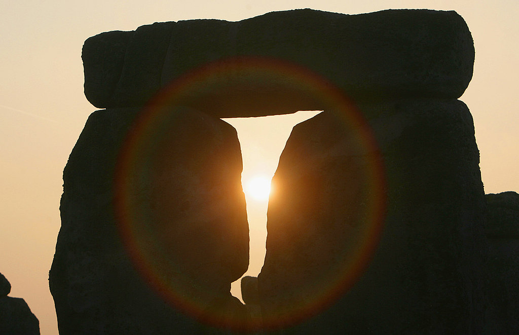 The sun rises over Stonehenge as druids (yes, they still exist) celebrate the Spring equinox.