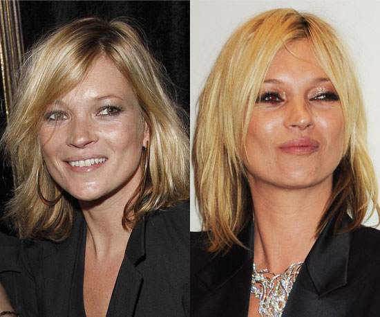 Which hair color is better on Kate Moss?