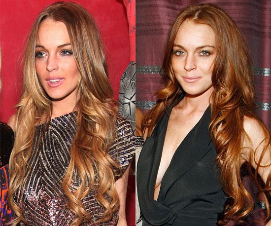 How red do you like Lindsay Lohan's hair?
