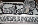 Damask Cradle Bumper and Sheet