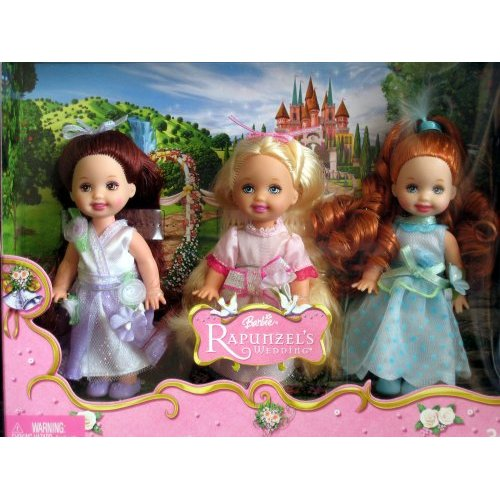 Barbie Kelly Rapunzel's Wedding Flower Girls Dolls
