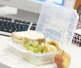 Keep Empty Tupperware at Your Desk
