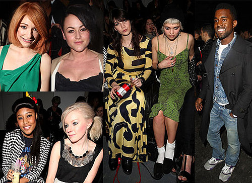 Photos of Kanye West, Nicola Roberts, Jaime Winstone, David Walliams, VV Brown, Little Boots, Pixie Geldof, Daisy Lowe