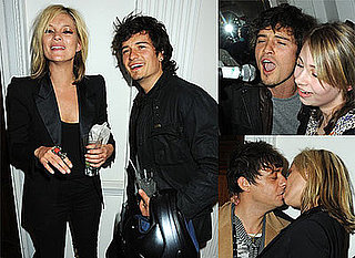 Photos Of Kate Moss, Orlando Bloom, Jamie Hince and Alison Mosshart At Mummy Rocks Charity Event. Kate and Jamie Kissing