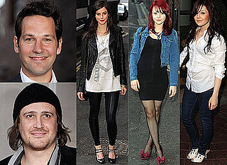 Skins Stars Kaya Scodelario, Kathryn Prescott and Megan Prescott With Paul Rudd and Jason Segel At I Love You Man UK Screening