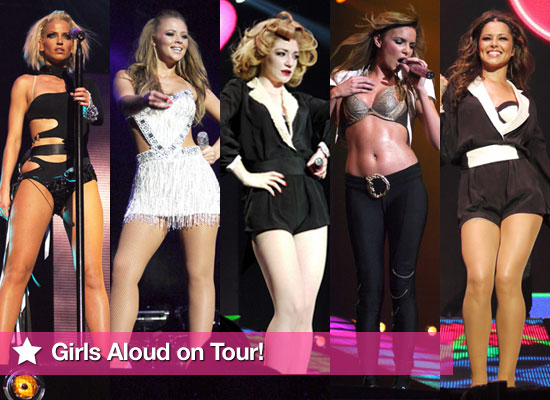 Photos of Girls Aloud on Tour Cheryl Cole, Kimberley Walsh, Nicola Roberts, Nadine Coyle, Sarah Harding at Soho Hotel London