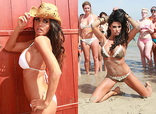Photos of Jordan aka Katie Price on Calendar Shoot in Ibiza in Bikini