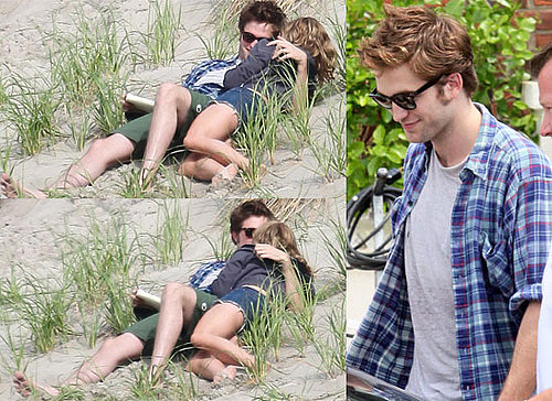 Photos Of Robert Pattinson and Emilie De Ravin Kissing As They Film Remember Me On Rockaway Beach, New York