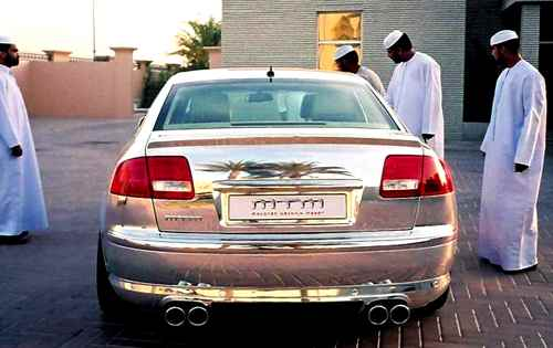 An Audi A8 was actually made out of SILVER! Tacky photo