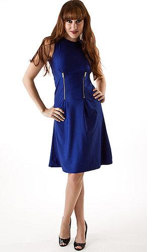 Zippered stretch dress