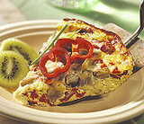 Roasted Pepper and Eggplant Frittata