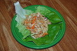 Chicken Lettuce Wraps with Sweet and Spicy Sauce