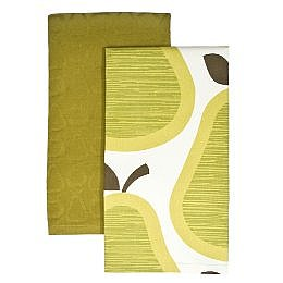 Home Pears Kitchen Towels 2pk. - Green (20x30&quot;) : Target