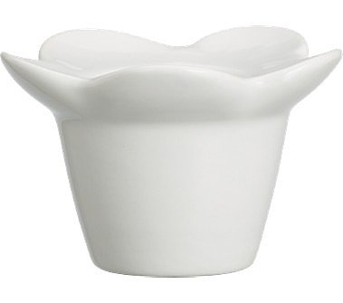 Crate and Barrel - Flower Egg Cup shopping in Crate and Barrel Specialty Serving Dishes