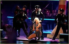 Lady Gaga performing at the MuchMusic video awards