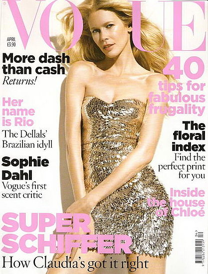 Claudia Schiffer does Vogue UK-april 09