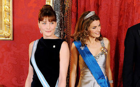 Photos of Carla Bruni and Spanish Princess Letizia