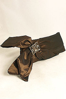 Bronze Taffeta Evening Clutch