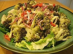 Broccoli Salad with Whole Grain Dijon & Dill Vinaigrette