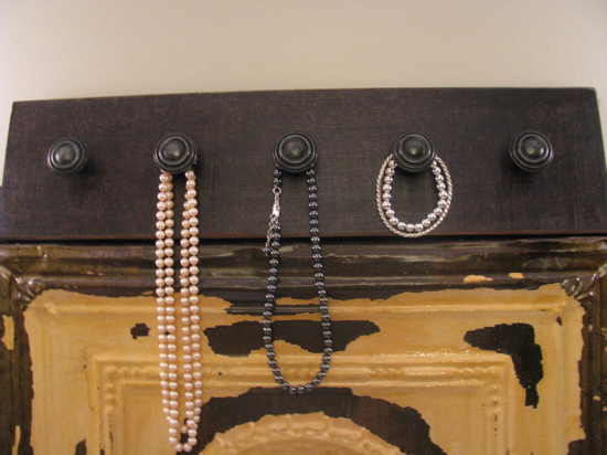 Make a necklace hanger with directions from Joys of Home.
