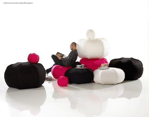 Add casual seating to your home with versatile poufs.