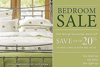 Sale Alert: 20 Percent Off Pottery Barn's Bedroom Items