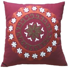 The Embroidered Pillow ($13.99) is a fraction of the cost of the Festival Pillow, and still features embroidery work.