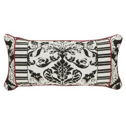 Target's Baroque Enchantment Pillow ($39.99) integrates a similar pattern interpreted in tapestry fabric and black and white.